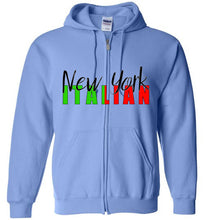 New York Italian - Zipper Front Hoodie - Ciao Bella Ltd T-Shirts