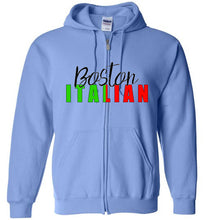 Boston Italian - Zipper Front Hoodie - Ciao Bella Ltd T-Shirts