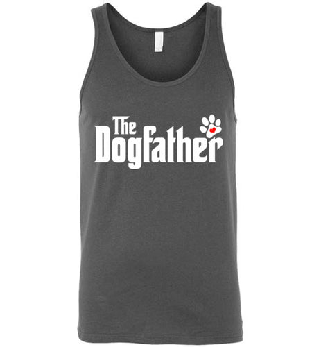 The Dogfather Pawprint Tank Top (White font) - Ciao Bella Ltd T-Shirts