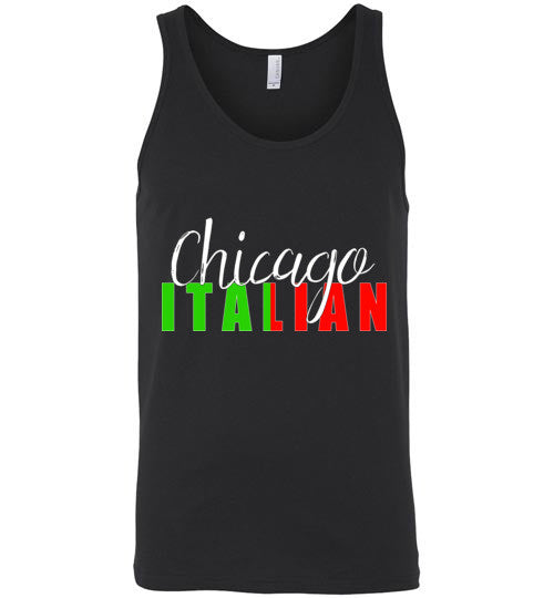 Chicago Italian Unisex Tank Top - Ciao Bella Ltd T-Shirts