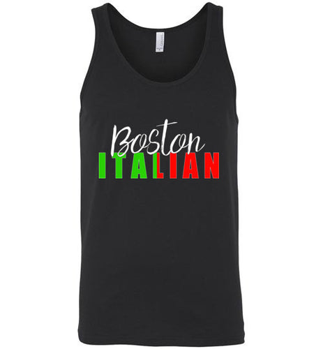 Boston Italian - Dark Colored Unisex Tank Top - Ciao Bella Ltd T-Shirts