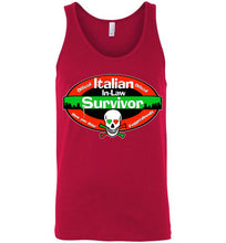 Official Italian In-Law Survivor Unisex Tank Top - Ciao Bella Ltd T-Shirts
