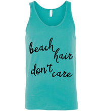 Beach Hair Don't Care - Light Colored Unisex Tank Top