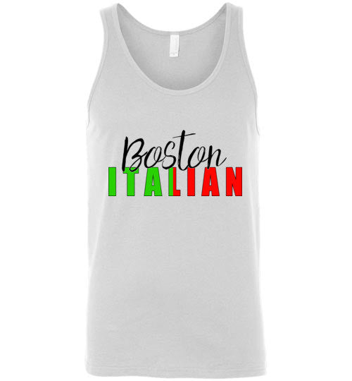Boston Italian - Unisex Tank Top - Ciao Bella Ltd T-Shirts