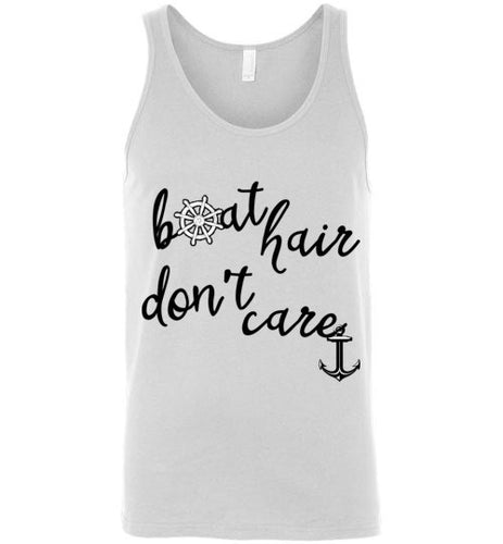 Boat Hair Don't Care Unisex Tank Top - Ciao Bella Ltd T-Shirts