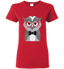 Hipster Wise Owl Ladies Short Sleeve Fashion Tee Shirt - Ciao Bella Ltd T-Shirts