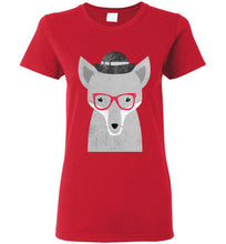 Hipster Sly Fox Ladies Fashion Short Sleeve T-Shirt - Ciao Bella Ltd T-Shirts