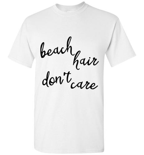 Beach Hair Don't Care - Light Colored Unisex Short Sleeve Tees
