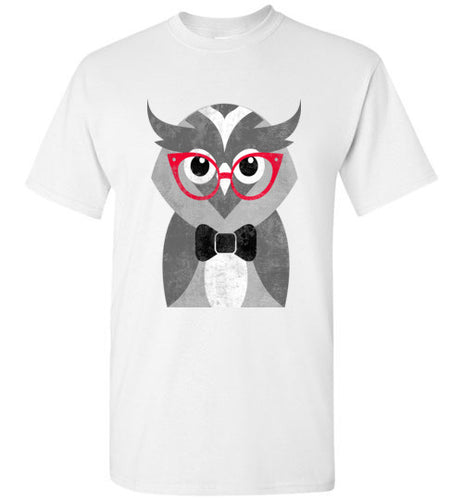 Hipster Wise Owl Crew Neck Short Sleeve Unisex Tee Shirt - Ciao Bella Ltd T-Shirts