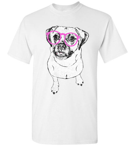 Hipster Puggle Unisex Crew Neck Short Sleeve Tee Shirt - Ciao Bella Ltd T-Shirts