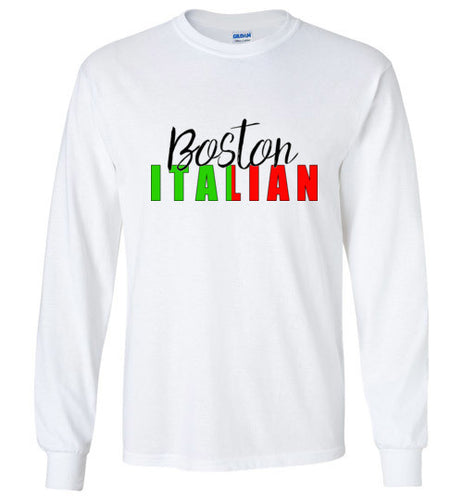 Boston Italian - Crew Neck Long Sleeve T-Shirt - Ciao Bella Ltd T-Shirts