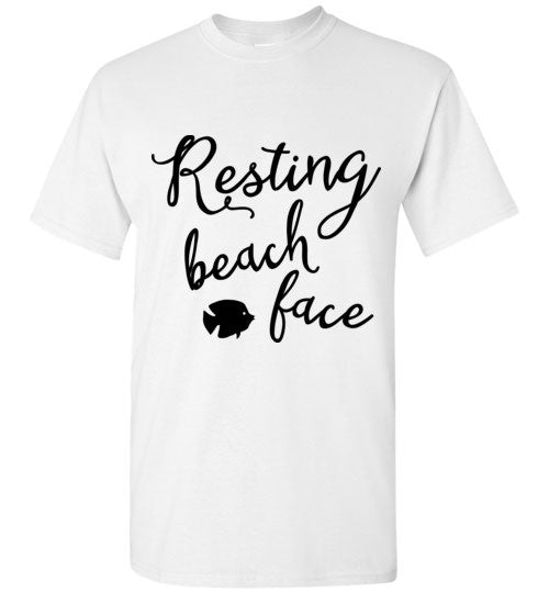 Resting Beach Face For Light Shirts