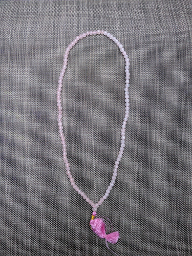 Rosequartz 108 bead unknotted