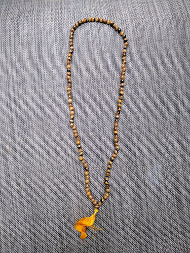 Tiger's eye 108 bead unknotted