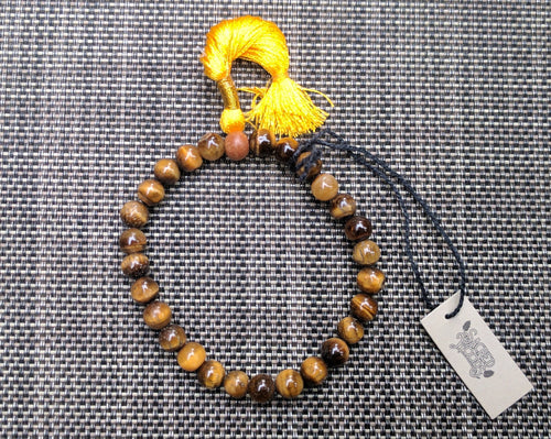 Tiger's eye 27 bead Wrist Mala on elastic