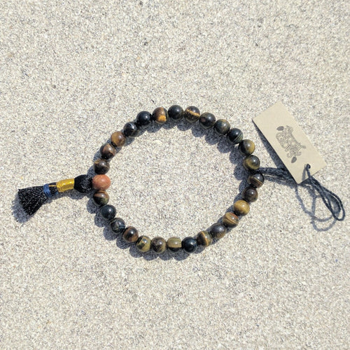 Hawk's Eye 27 bead Wrist Mala