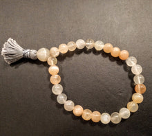 Multicolor Moonstone 27 bead Wrist Mala