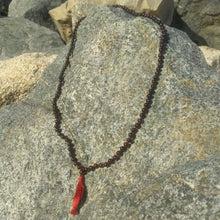 Garnet 108 bead knotted