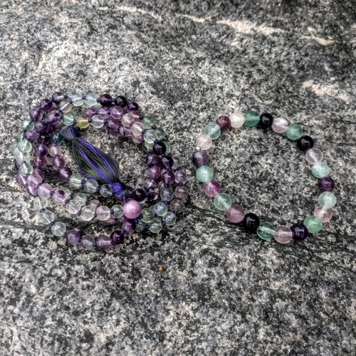 Purple-Green Fluorite Bracelet