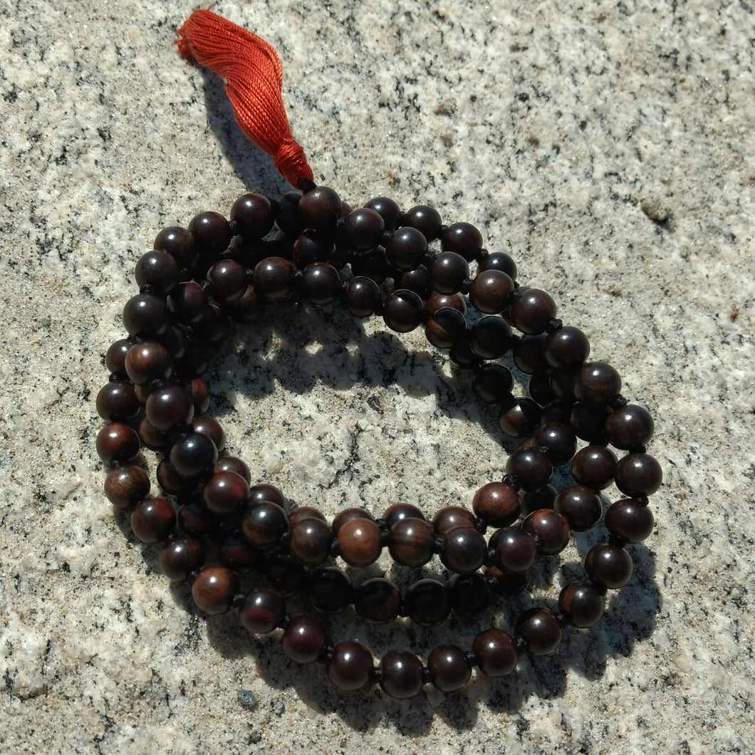 Ebony 108 bead knotted