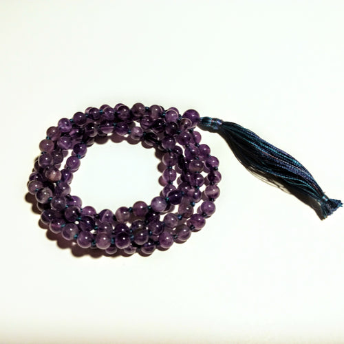 Amethyst 108 bead knotted