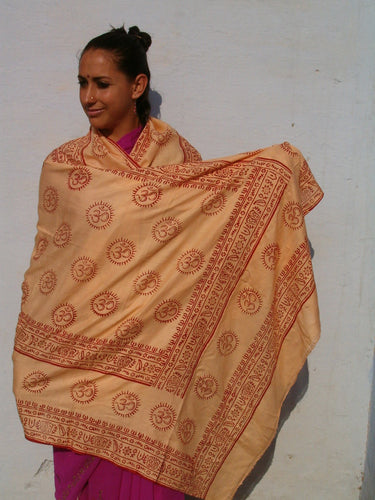 OM temple shawl