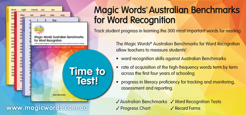 Magic Words Australian Benchmarks for Word Recognition