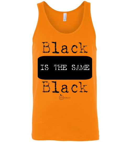 """Black is the Same Black"" Athletic Tank"
