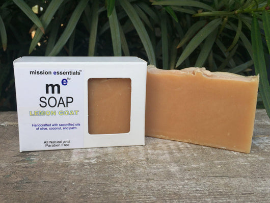 Handcrafted Soaps- Lemon Goat with goat milk- Buy 4 and save!