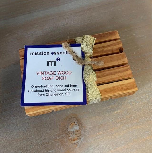 Reclaimed  Vintage Wood Soap dish - Mission Essentials