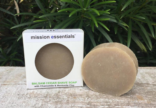 Handcrafted Soaps- Balsam and Cedar Shave Soap - Buy 4 and save! - Mission Essentials