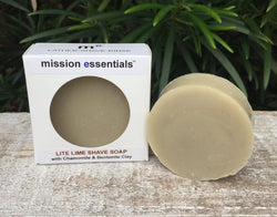 Handcrafted Soaps- Lite-Lime Shave Soap - Buy 4 and save!
