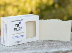 Handcrafted Soaps- Pure Unscented - Buy 4 and save!