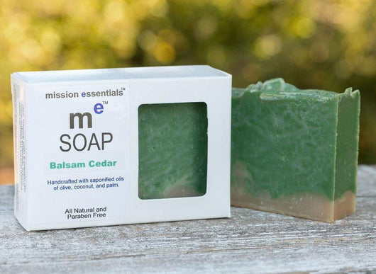 100% Handcrafted Soaps- Balsam Cedar - Buy 4 and save!