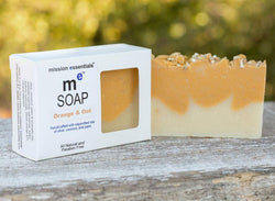 Handcrafted Soaps- Orange and Oat with colloidal oatmeal- Buy 4 and save!