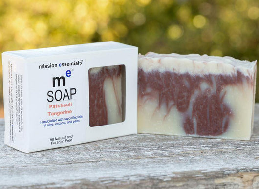 Handcrafted Soaps- Patchouli Tangerine - Buy 4 and save! - Mission Essentials