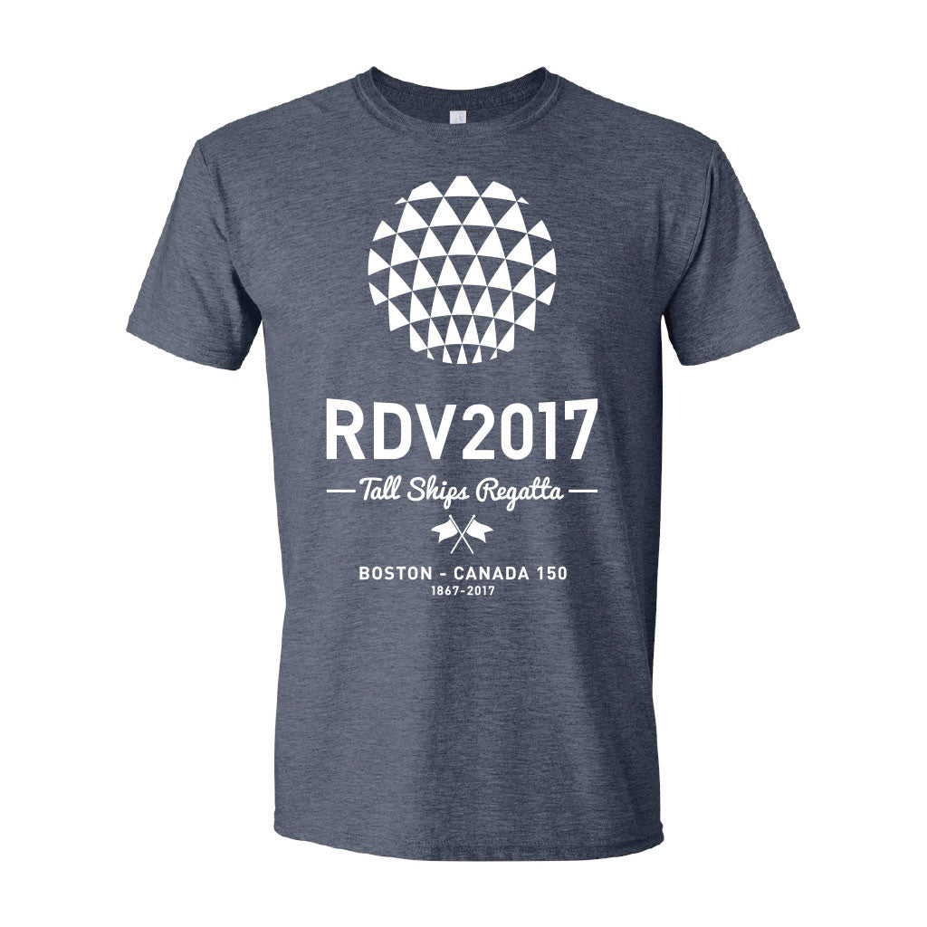 RDV2017 Distressed T-Shirt - Heather Navy