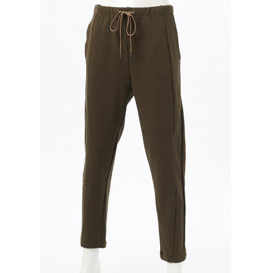 Stretch Ponte Cropped Pants - Khaki - bodyartwebstore