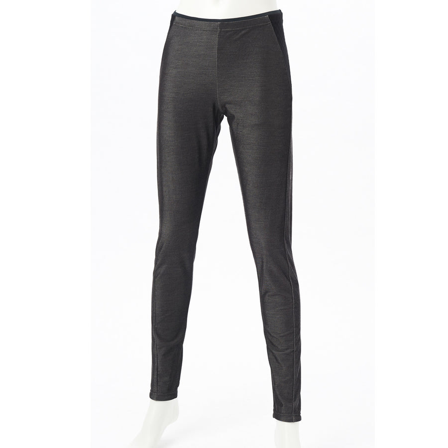 Stretch Denim Leggings - Dark Grey - bodyartwebstore