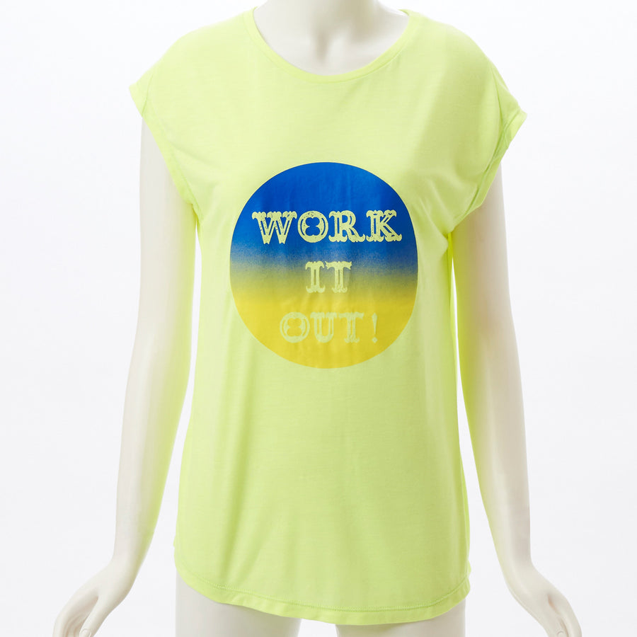 Flost French Sleeve Top - Neon Yellow - bodyartwebstore