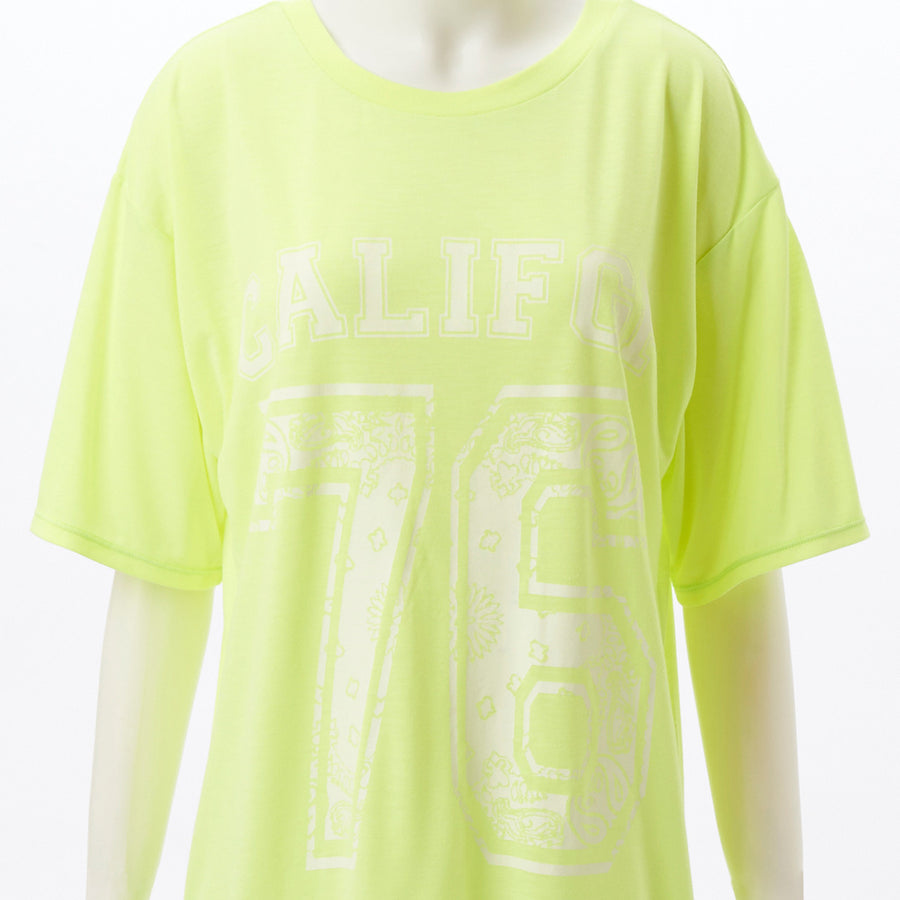 Flost Big Sports T-shirt - Neon Yellow - bodyartwebstore