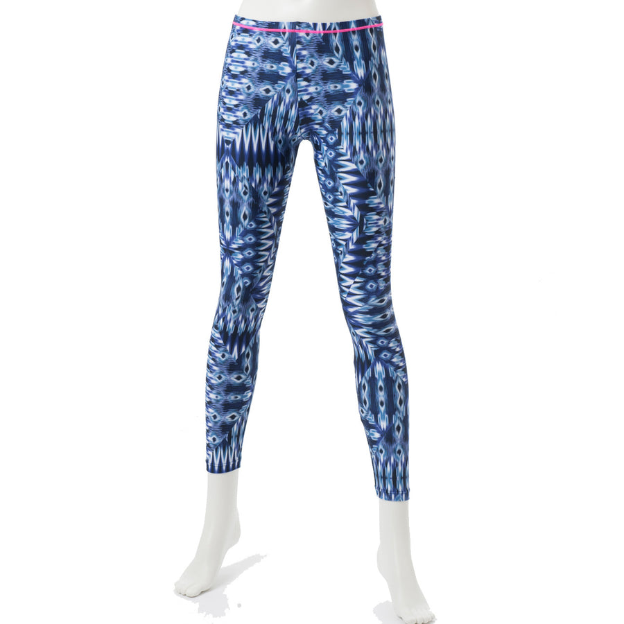 Spunkee - Patterned Leggings - Navy - bodyartwebstore
