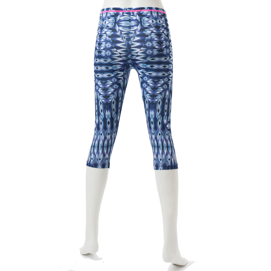 Spunkee - Patterned Capri leggings - Navy - bodyartwebstore
