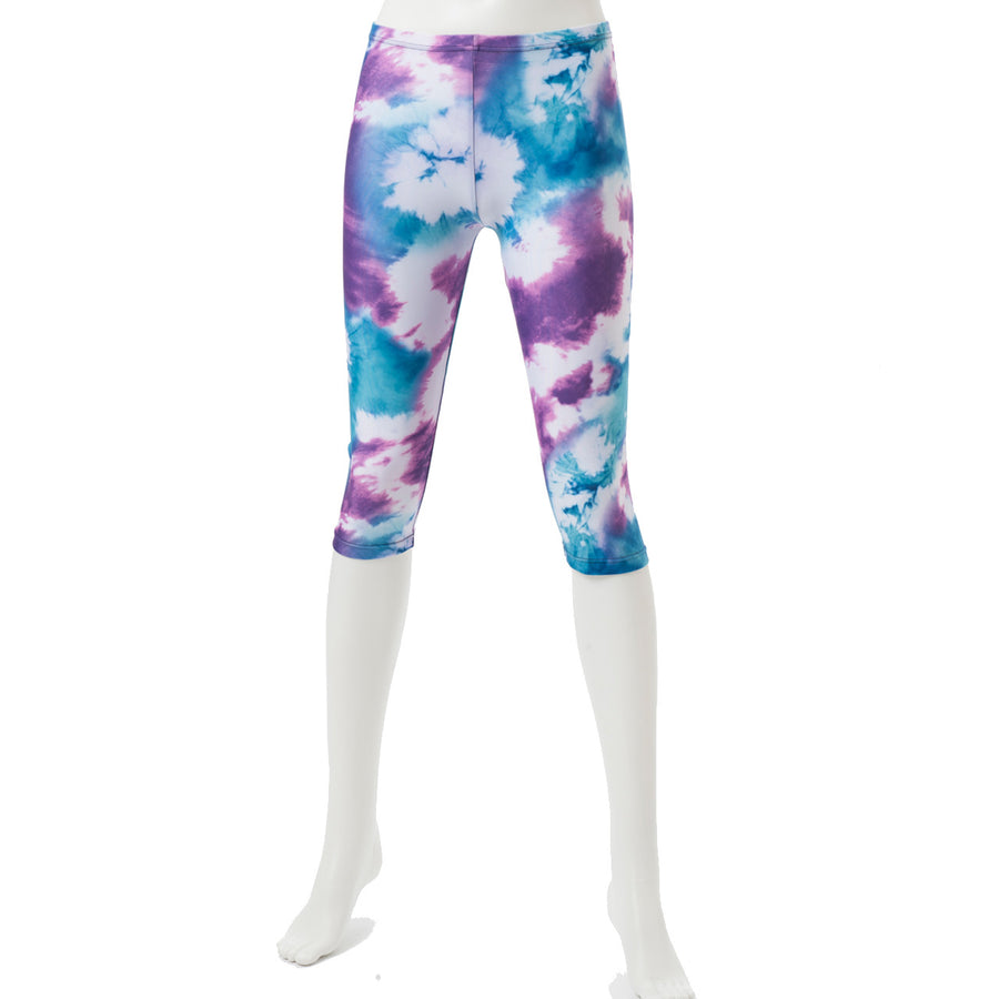 Spunkee - Tie Dye Capri leggings - Purple - bodyartwebstore
