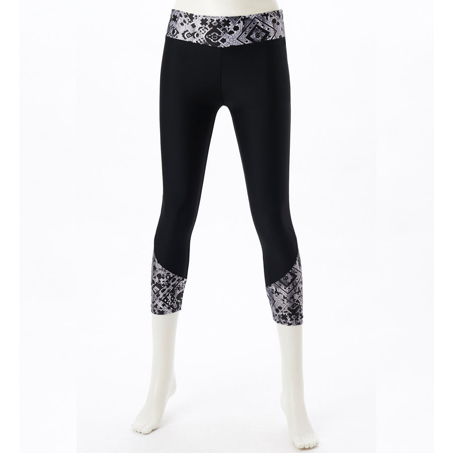 DRYMASTER Cropped Leggings - Black - bodyartwebstore