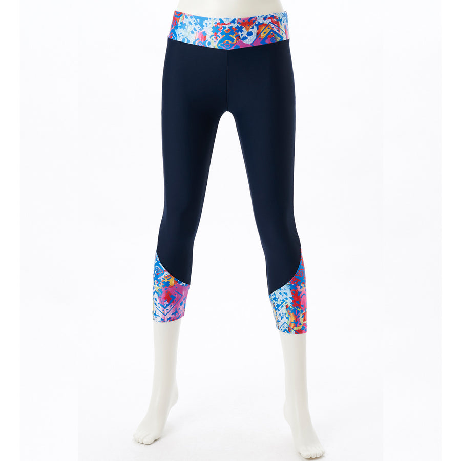 DRYMASTER Cropped Leggings - Blue - bodyartwebstore