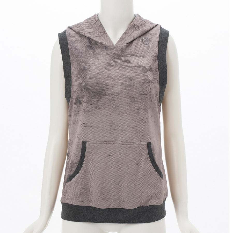 Light Sweat Hooded Tank - Grey - bodyartwebstore