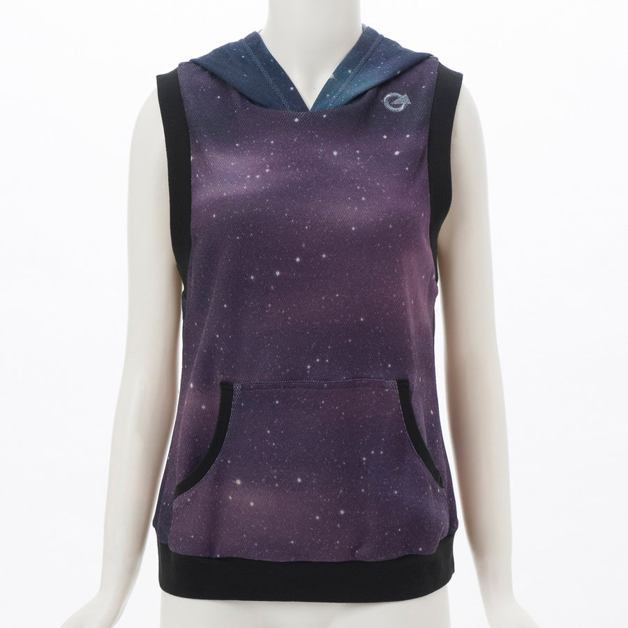 Light Sweat Hooded Tank - Galaxy - bodyartwebstore