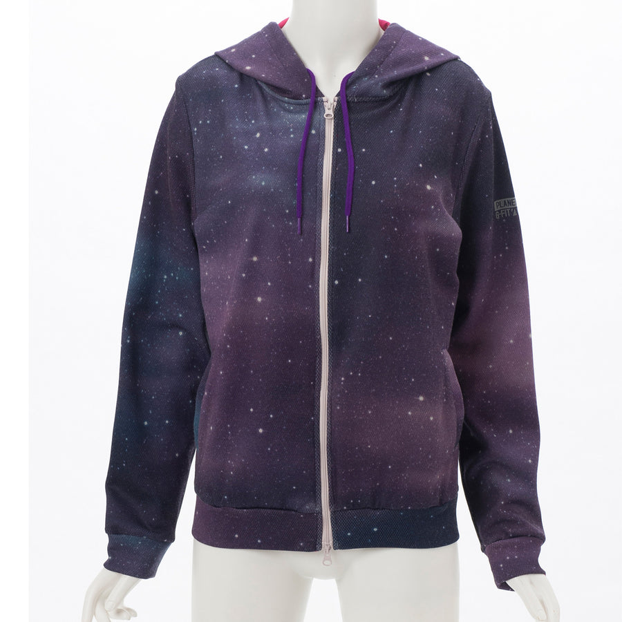 Light Sweat Zip Up Hoodie - Galaxy - bodyartwebstore