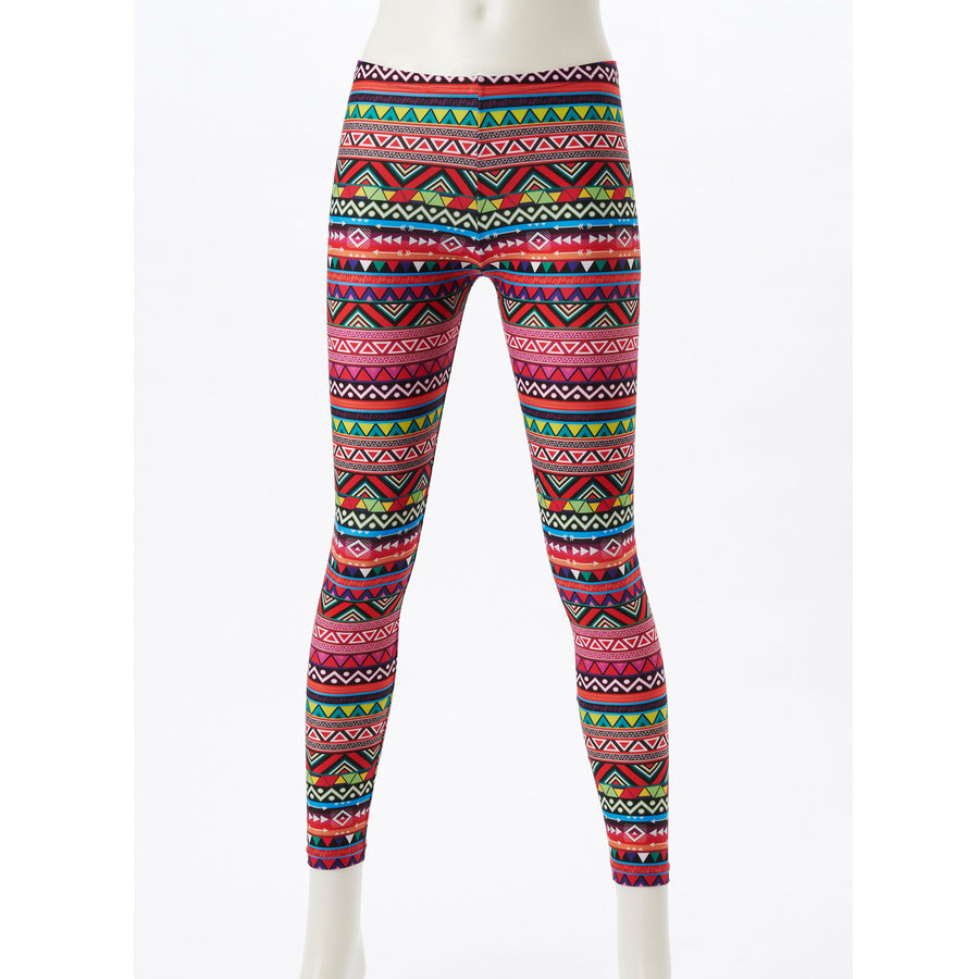 Spunkee - Patterned Leggings - Native Pink - bodyartwebstore